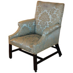 English George III Chippendale Period Mahogany Lounging Chair