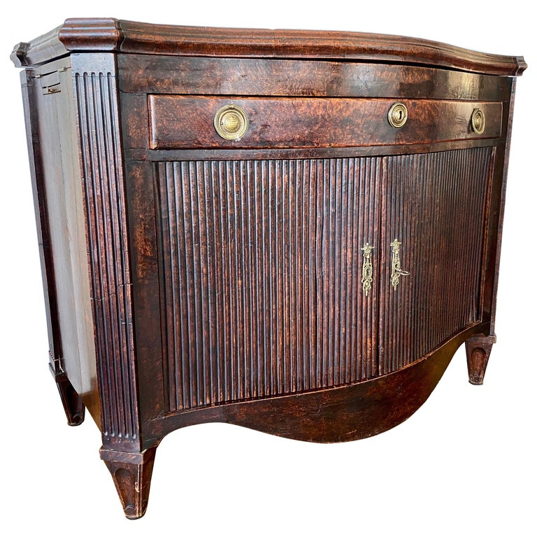 Dutch Burl Mahogany Commode/Sideboard, Late 18th Century For Sale
