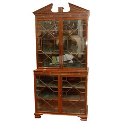 ENGLISH GEORGE III GLAZED BOOKCASE
