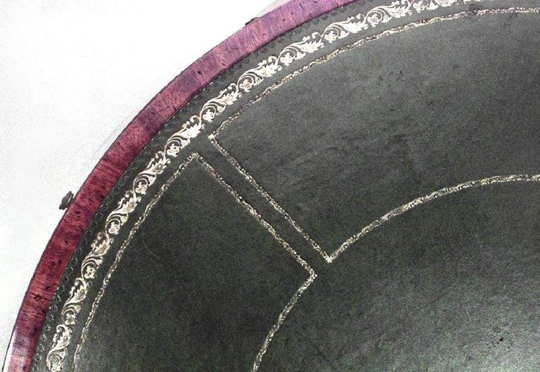 Georgian English George III Green Leather Center Table For Sale