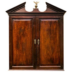 English George III Hanging Wall Cabinet