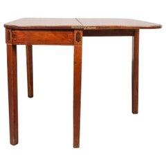 English George III Inlaid Mahogany Games Table