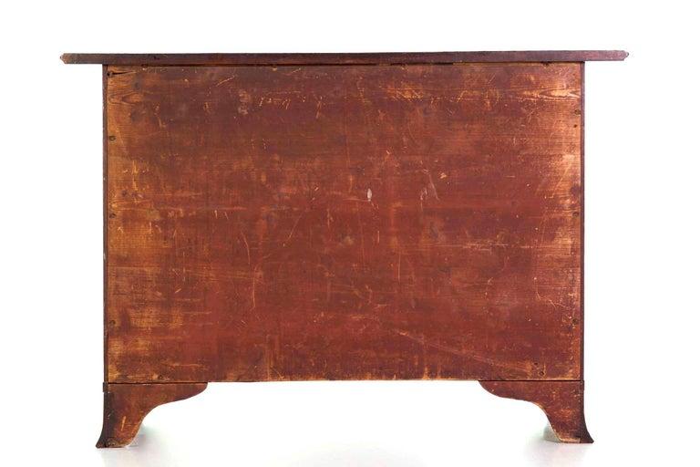 Inlay English George III Inlaid Mahogany Serpentine Secretary Chest of Drawers For Sale