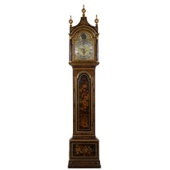 English George III Japanned Tall Longcase Clock, Daniel Keele, circa 1770