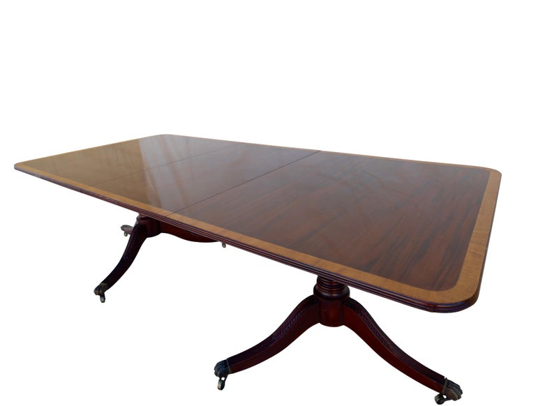 English George III Mahogany Banquet Dining Table, Early 19th Century For Sale 5