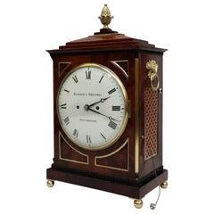English George III Mahogany Bracket Clock by Hampson & Thelwell