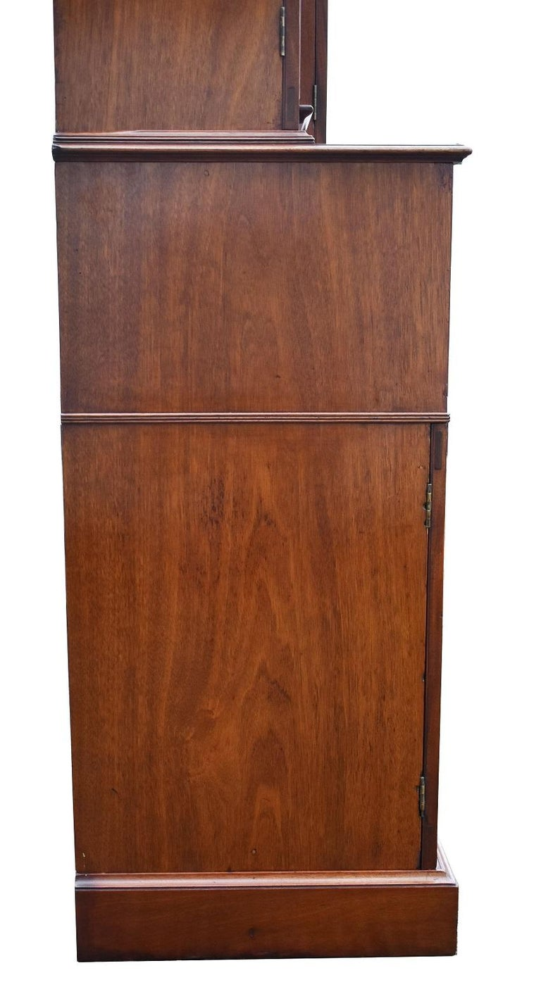 English George III Mahogany Breakfront Bookcase with Secretary For Sale 12