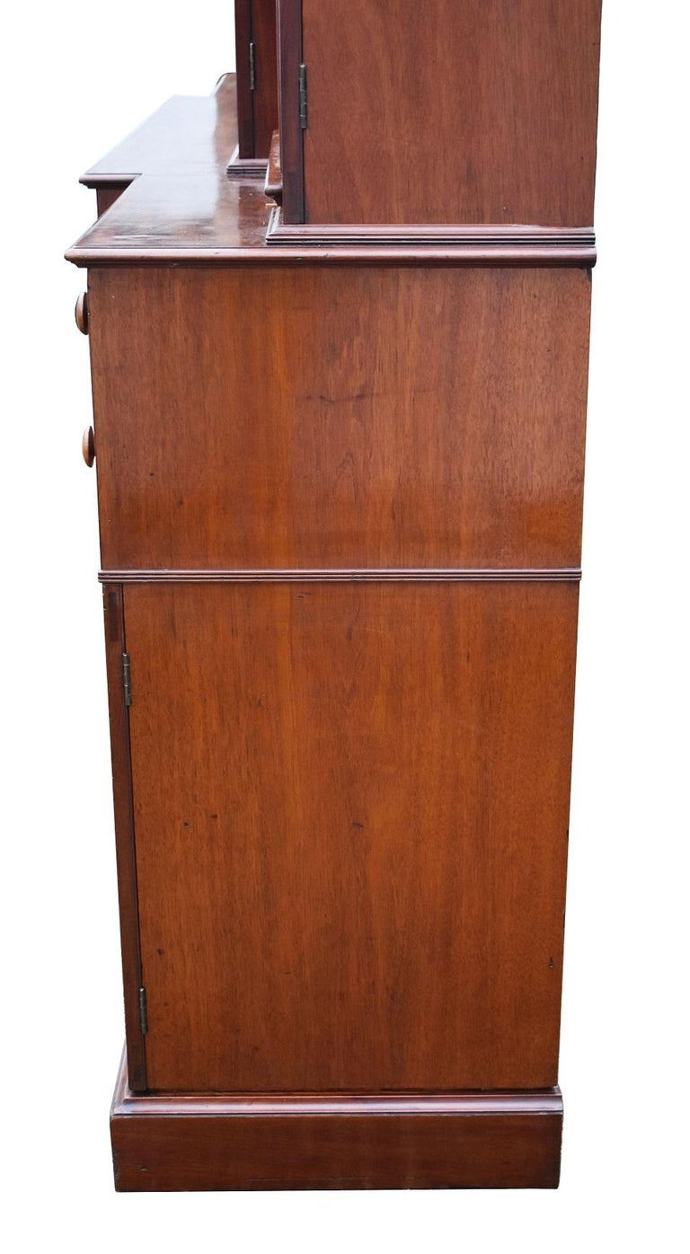 English George III Mahogany Breakfront Bookcase with Secretary For Sale 14