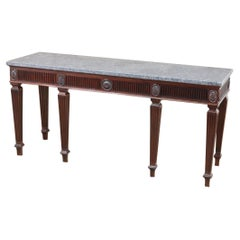 English George III Mahogany Console with Stone Top, Base, circa 1780