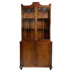 English George III Mahogany Gillows Glazed Bookcase, circa 1780