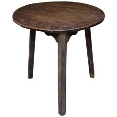 English George III Painted Oak Cricket Table, circa 1790