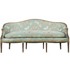 English George III Period Antique Canapé Sofa in Early Paint, circa 1780