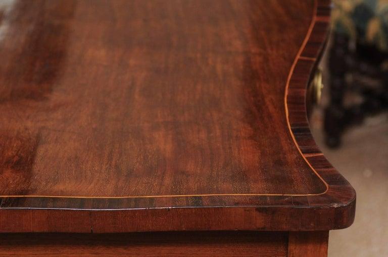 English George III Period Serpentine Inlaid Sideboard in Mahogany, ca. 1800 For Sale 7