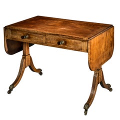English George III Regency Sofa Table, circa 1800