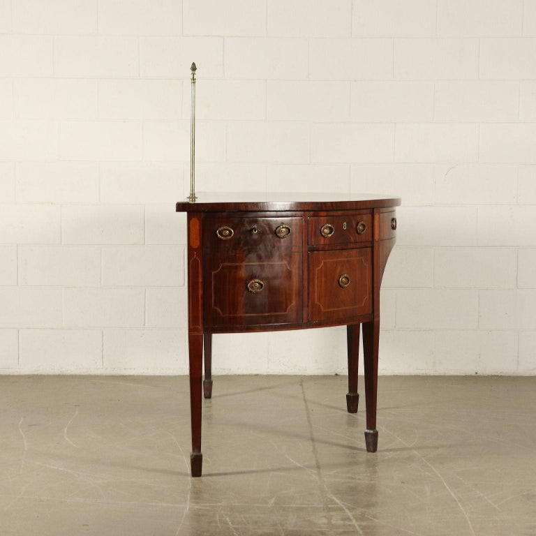 English George III Sideboard Mahogany Maple Ebony Bro Brass, circa 1790 For Sale 9