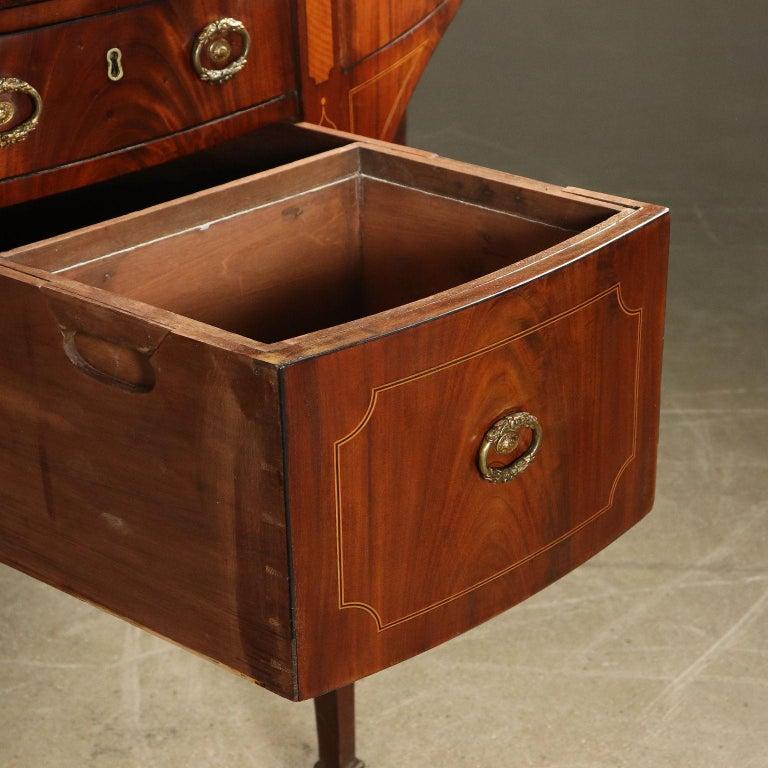 English George III Sideboard Mahogany Maple Ebony Bro Brass, circa 1790 For Sale 1