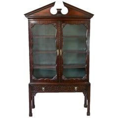 English George III Style Book/Display Cabinet