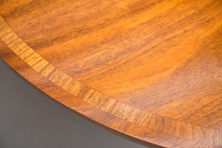 English George III Style Mahogany Twin Pedestal Mahogany Oval Dining Table For Sale 3