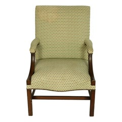English George III Style Upholstered Armchair