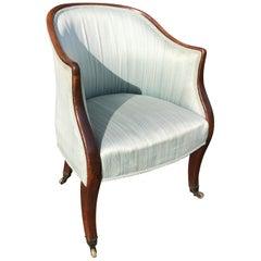 English George III Period Mahogany Library Tub Chair