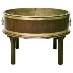 English George lll Style Brass Bound Wine Cooler