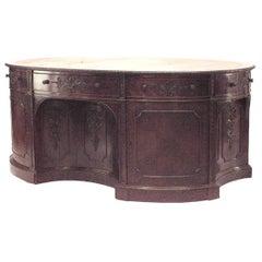English Georgian '19th Century' Mahogany Oval Partners Desk