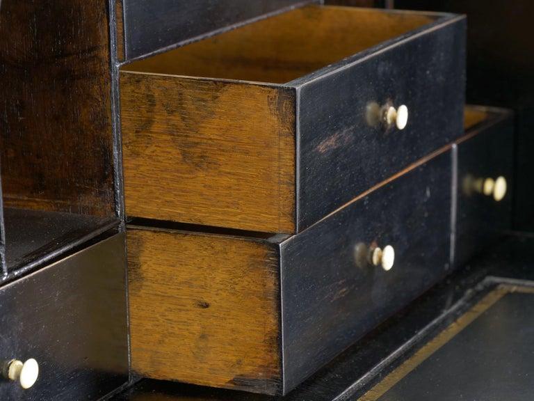 English Georgian Antique Butler's Secretary Desk with Bookcase, 19th Century For Sale 9