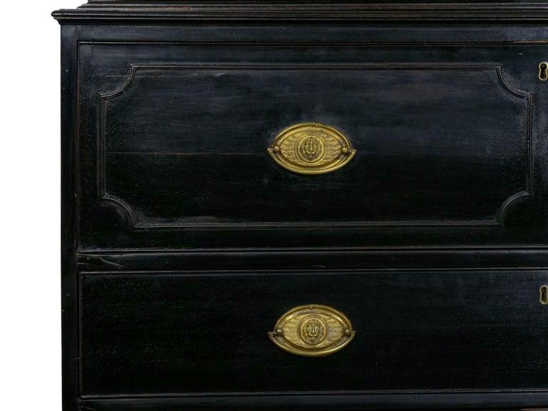 English Georgian Antique Butler's Secretary Desk with Bookcase, 19th Century For Sale 12