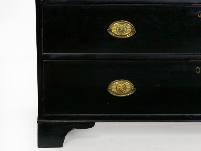 English Georgian Antique Butler's Secretary Desk with Bookcase, 19th Century For Sale 13