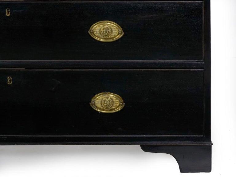 English Georgian Antique Butler's Secretary Desk with Bookcase, 19th Century For Sale 14