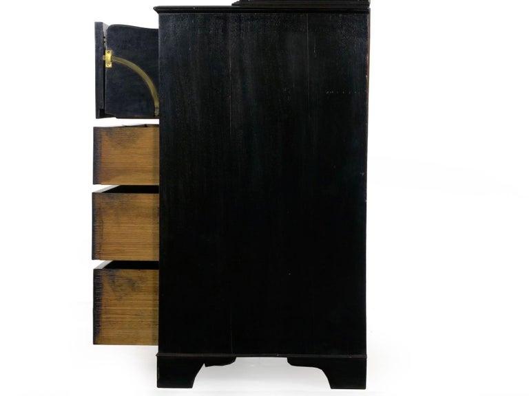 English Georgian Antique Butler's Secretary Desk with Bookcase, 19th Century For Sale 15