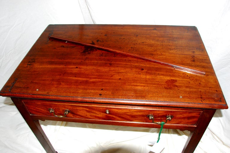 English Georgian Chippendale Adjustable Architect's Table in Mahogany For Sale 6