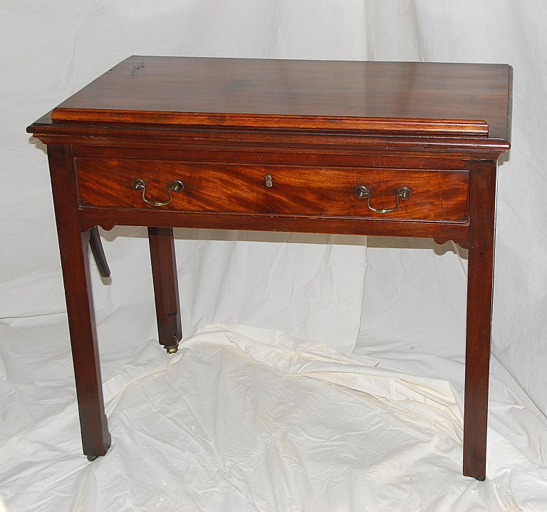 George III English Georgian Chippendale Adjustable Architect's Table in Mahogany For Sale