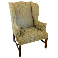 English Georgian Chippendale Mahogany Period Wing Chair