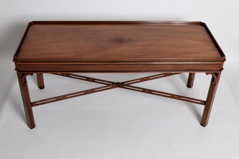 English Georgian Chippendale Style Mahogany Coffee Table by Brights of Nettlebed For Sale 6
