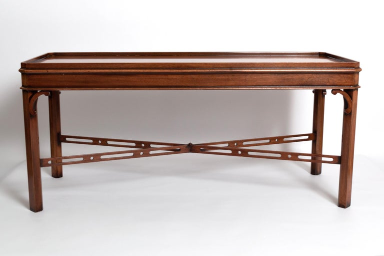English Georgian Chippendale Style Mahogany Coffee Table by Brights of Nettlebed For Sale 7