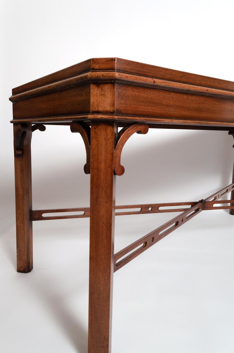 English Georgian Chippendale Style Mahogany Coffee Table by Brights of Nettlebed For Sale 8