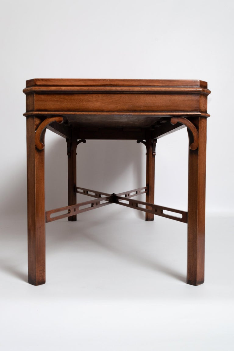 Mid-20th Century English Georgian Chippendale Style Mahogany Coffee Table by Brights of Nettlebed For Sale