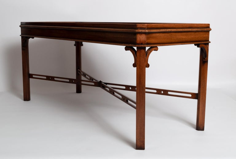 English Georgian Chippendale Style Mahogany Coffee Table by Brights of Nettlebed For Sale 1