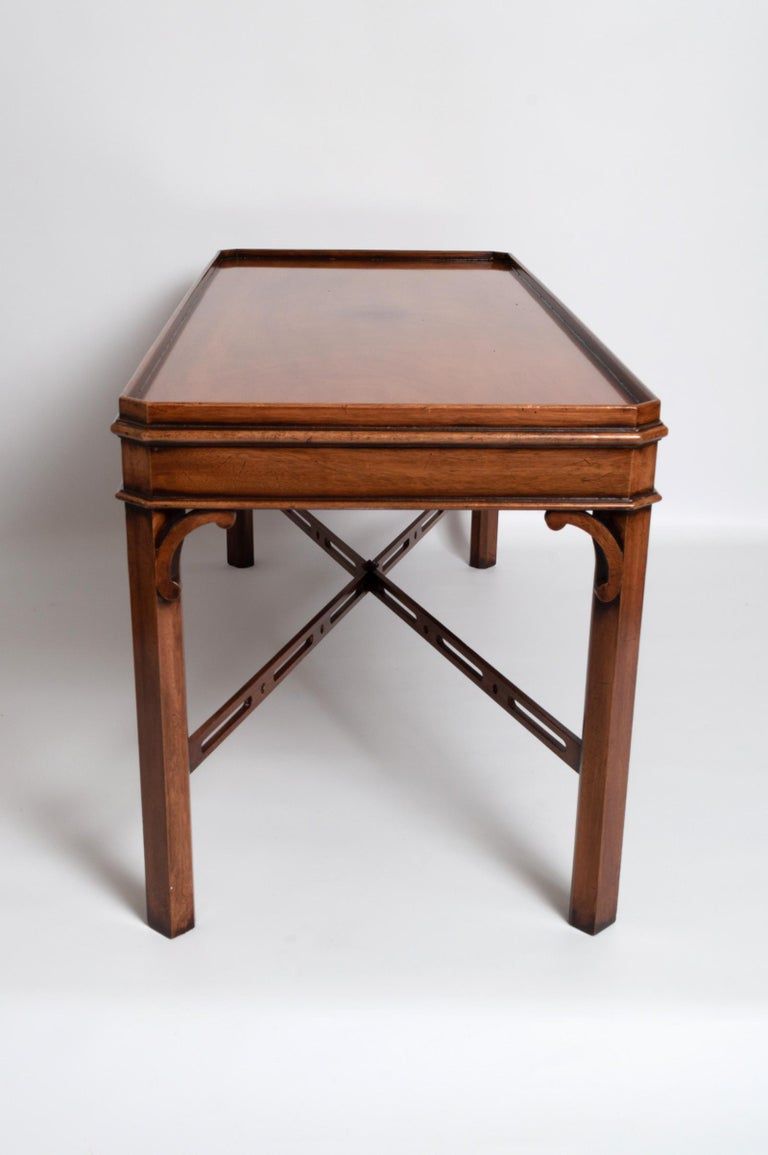 English Georgian Chippendale Style Mahogany Coffee Table by Brights of Nettlebed For Sale 2