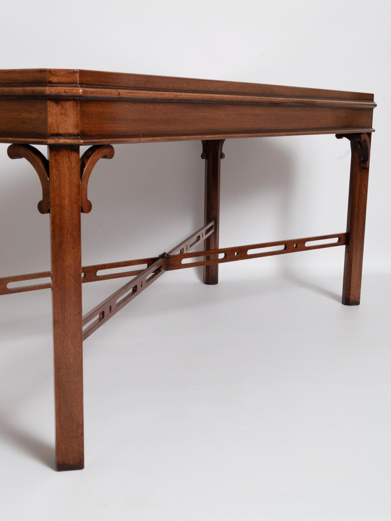 English Georgian Chippendale Style Mahogany Coffee Table by Brights of Nettlebed For Sale 4