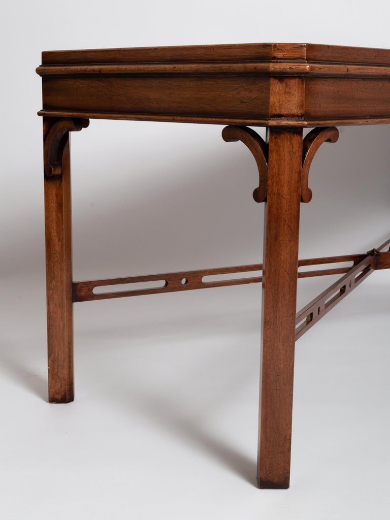 English Georgian Chippendale Style Mahogany Coffee Table by Brights of Nettlebed For Sale 5