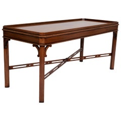 English Georgian Chippendale Style Mahogany Coffee Table by Brights of Nettlebed