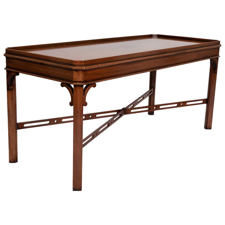 English Georgian Chippendale Style Mahogany Coffee Table by Brights of Nettlebed For Sale