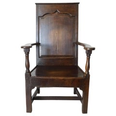 English Georgian Elm Wainscot Chair, circa 1760