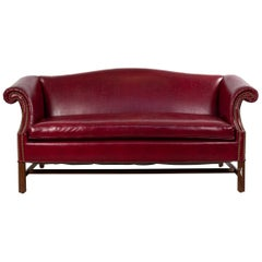 English Georgian Leather Chesterfield Sofa