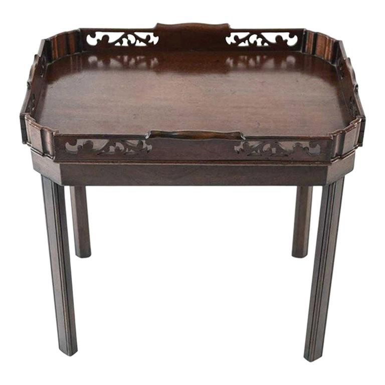 English Georgian Mahogany Butler Tray Table