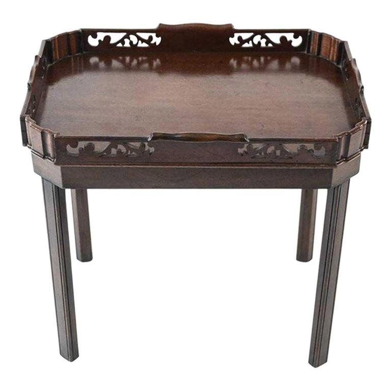 English Georgian Mahogany Butler Tray Table For Sale