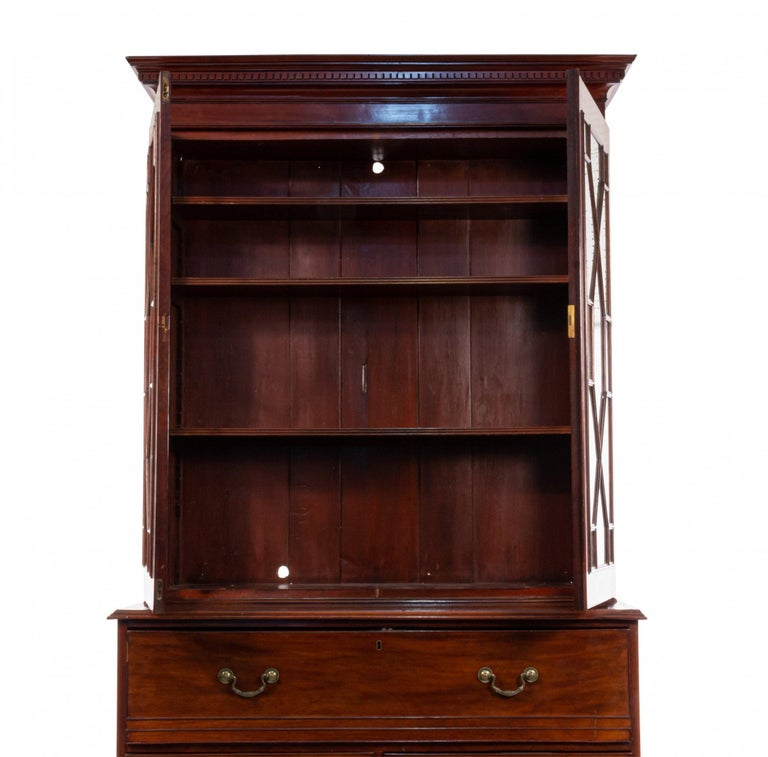 English Georgian Mahogany Secretary For Sale 6