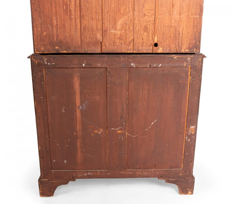 English Georgian Mahogany Secretary For Sale 1